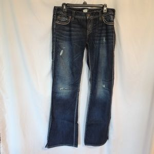 Silver jeans Frances Womens size 31 / 33 distresse